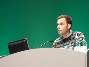 Visconti presenting